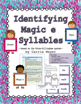 Identifying Magic E Syllables