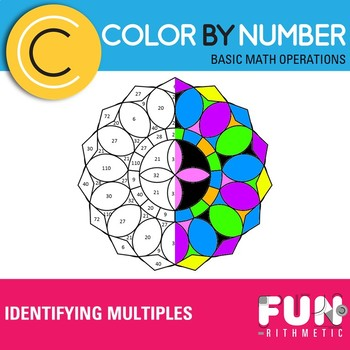 Identifying Multiples Color by Number