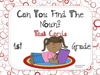 Identifying Nouns Task Cards