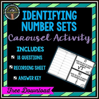 Identifying Number Sets: Carousel Activity