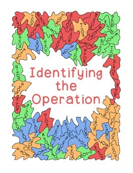 Identifying Operations Coloring Mental Math PDF Printable
