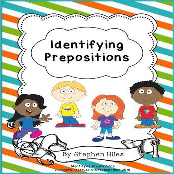 Identifying Prepositions: Task Cards