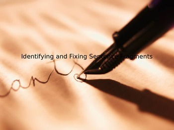 Identifying Sentence Fragments