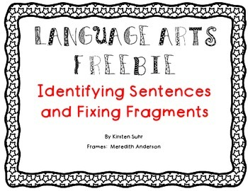 Identifying Sentences (worksheet)
