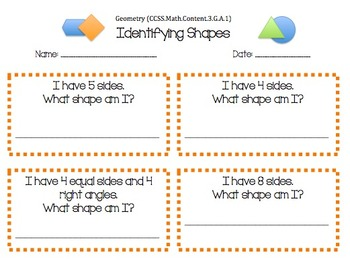 Identifying Shapes Packet