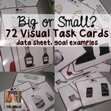 Identifying Size (Big and Small) Task Cards
