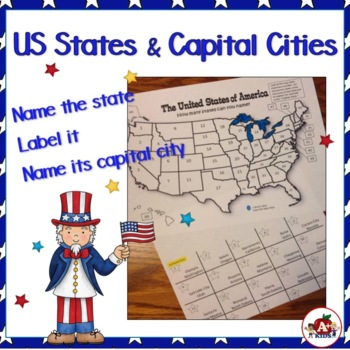 Identifying States and State Capitals of the United States
