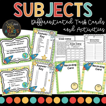 Grammar:  Subjects Task Cards
