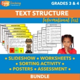 Identifying Text Structure Bundle - Third Fourth Grade Inf