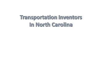 Identifying Transportation in NC