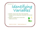 Identifying Variables Activity Cards