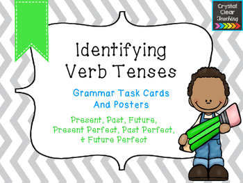 Identifying Verb Tenses - Task Cards and Anchor Charts