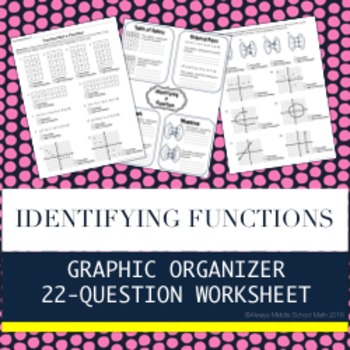 Identifying a Function: Graphic Organizer and 22-question