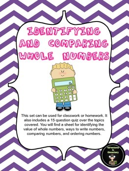 Identifying, Comparing, and Ordering Whole Numbers