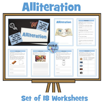 Identifying and Using Alliteration - Set of 12 Worksheets