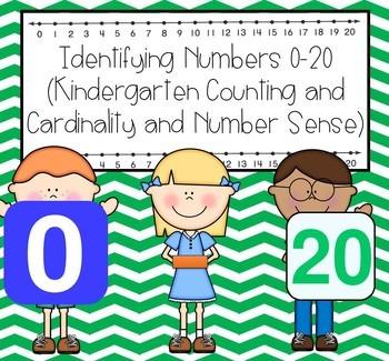 Identifying numbers 0-20 (Kindergarten Math Activities)