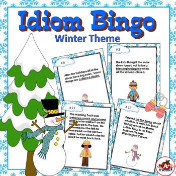 Idiom Bingo with a Winter Theme