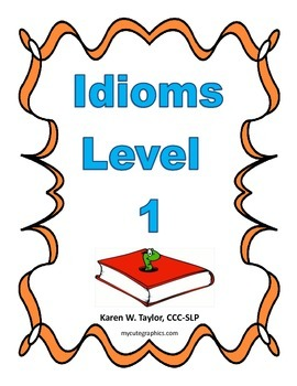 Idiom Level 1 list, figurative language, multiple meanings