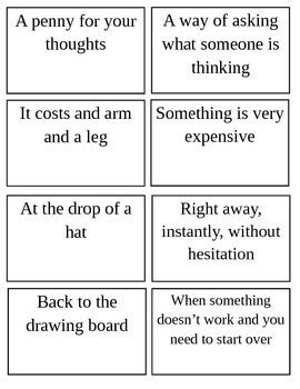 Idiom Matching Game