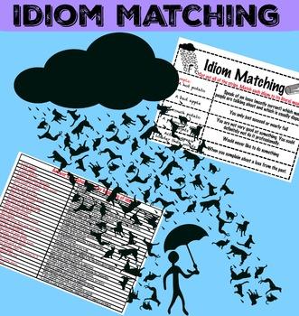 Idiom Matching with Answer Key