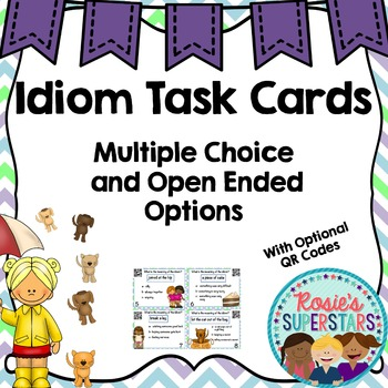 Idiom Task Cards With Optional QR Codes