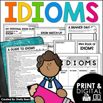 Idioms Worksheets, Foldables, Student Guide, & Activities