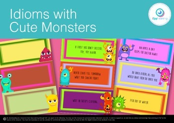 Idiom of the Week! 24 Idioms with Editable Templates for Y