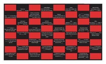 Idioms #1 Checker Board Game