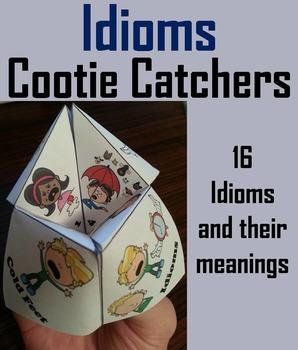 Idioms Activity - Figurative Language Foldable Quiz 3rd 4t