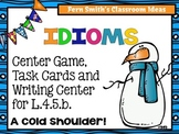 Idioms Center Game, Task Cards and Writing Center