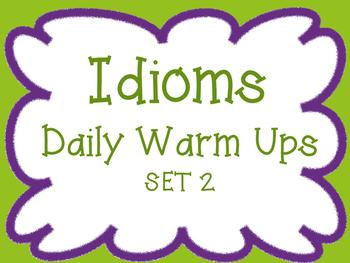 Idioms: Daily Activity Set 2