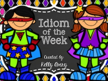 Poetry:  Idiom Task Cards and Printables