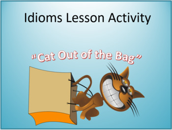 Idioms PowerPoint Lesson Activity - Grades 4-5