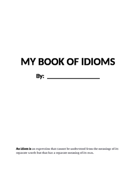 Idioms Practice in Book Form - Great practice for AIR & MA