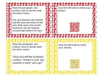 Idioms QR Codes Activity