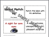 Idioms Sort Cards- Five Senses