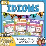 Idioms Task Cards: 3 SET BUNDLE (96 Cards Total) for CCS L