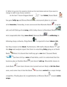 Idioms and Phrasal Verbs (Japanese Business Report)