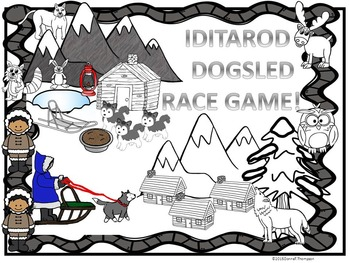 Iditarod Dogsled Race Game: Two Game Boards (Odd and Even Years)