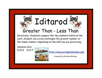 Iditarod Greater Than - Less Than