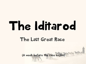 Iditarod PowerPoint Lesson Plan ONLY (no articles) - {READ