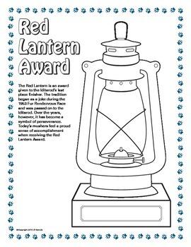 Iditarod Red Lantern Award Coloring Page