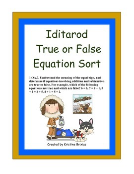 Iditarod True False Equation Sort