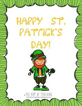If I Was A Leprechaun...St. Patrick's Day Fun!