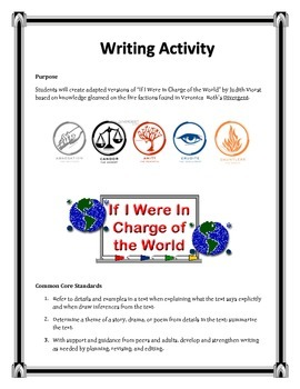 Divergent Writing Activity-If I Were in Charge of the World