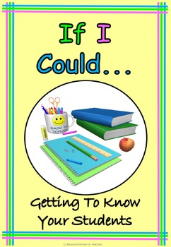 If I Could ... Back to School or End of Year Fun, Printabl