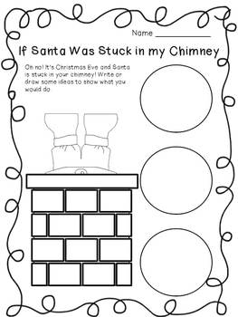 If Santa was Stuck in the Chimney