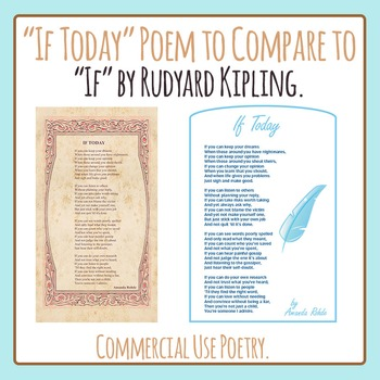 "If Today: Poem Compare and Contrast to ""If"" by Rudyard Kip"