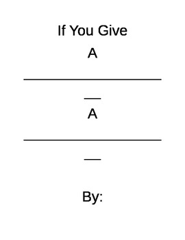If You Give Story Template- struggling students