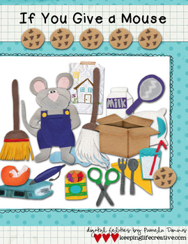 If You Give a Mouse a Cookie {Digital Felt Art}